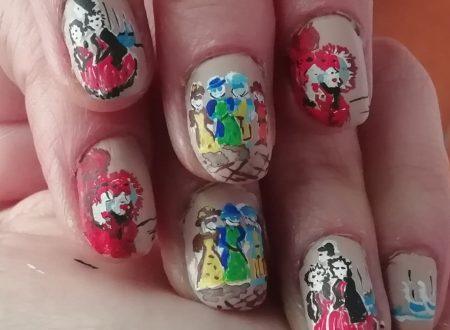 Italian carnival nails