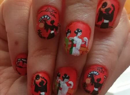 Japanese fan dance nails