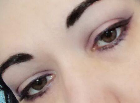 Everyday violet makeup