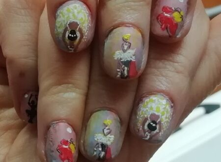 Dancer nails painting